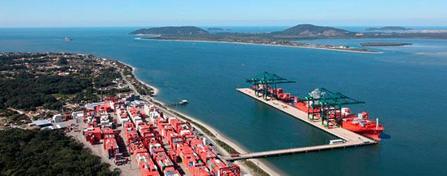 Movimentação cresce 10% no Porto Itapoá em 2017