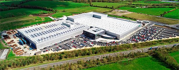 Nova fábrica da Combilift localizada em Monaghan, na Irlanda