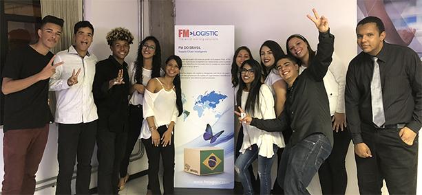 Formatura da primeira turma do projeto na FM Logistic, em novembro de 2018