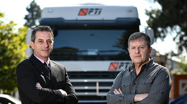 Sidnei Fantinati e seu irmão e também sócio-diretor da FTI Logística, Roberto Fantianti